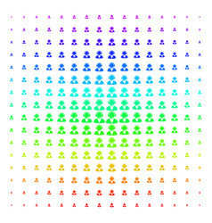 support operator icon halftone spectral grid vector image