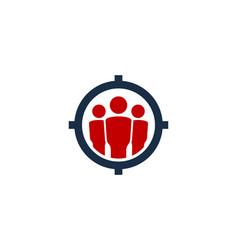 team target logo icon design vector image