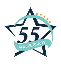 Template Logo 55 Anniversary vector image