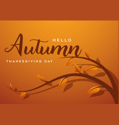 thanksgiving day banner background greeting card vector image