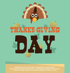thanksgiving poster style collection vector image