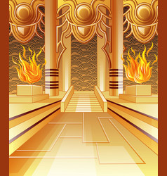 The hall of fire vector