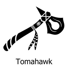 Tomahawk icon simple black style vector
