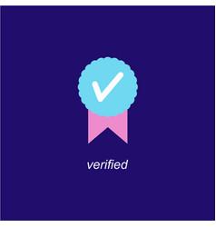 Verified icon logo design vector