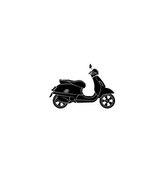 vintage moped motorcycle black on white vector image
