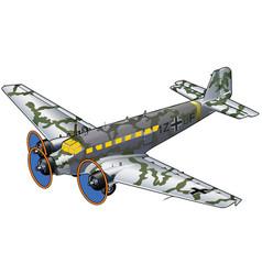 World war ii military transport airplane vector