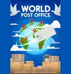 Worldwide post mail delivery packages and parcels vector