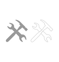 wrench and hammer set icon vector image