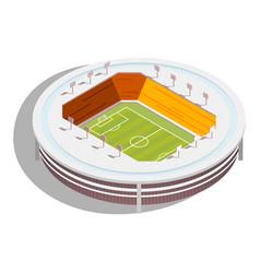 football stadium isometric vector image