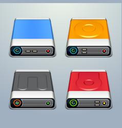hard drive icons vector image