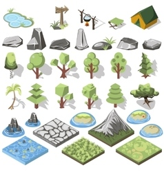 Isometric 3d element vector image vector image