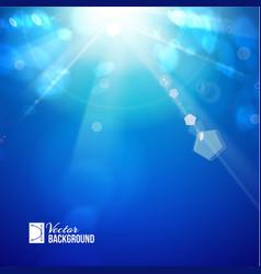 Sun shine rays with bokeh vector image