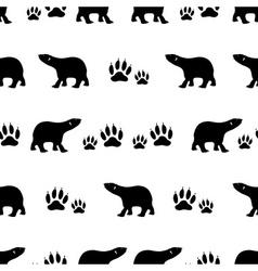 black bears walking seamless pattern eps10 vector image vector image