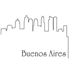 buenos aires city one line drawing vector image