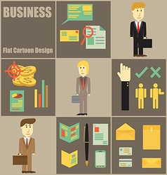 Business People Flat Cartoon vector image vector image
