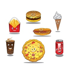 Fast food and takeaway food icons vector image vector image