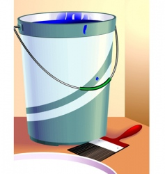 paint and container vector image vector image