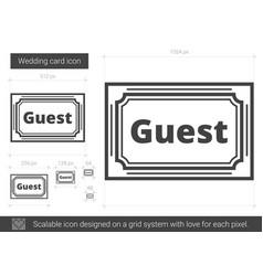 Wedding card line icon vector