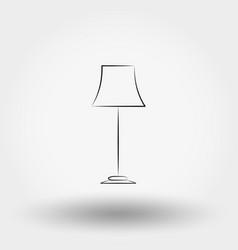 floor lamp icon vector image
