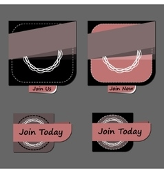 Modern abstract badges collection vector image