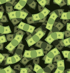 Money seamless pattern Cash background Money Rain vector image vector image