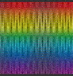 rainbow knitted background vector image