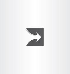 stylized arrow black logo design vector image vector image