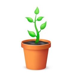 The flowerpot vector image vector image