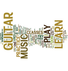 you can learn to play music on guitar text vector image vector image