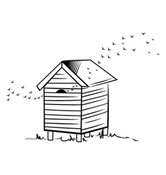 Bee hive vector image vector image