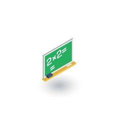 blackboard chalkboard isometric flat icon 3d vector image