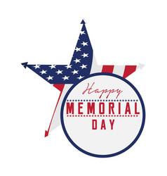 memorial day emblem vector image