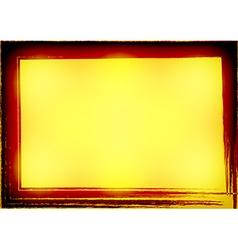 Yellow Gold Celebrate border Grunge Background vector image