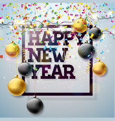 2018 happy new year with typography vector image