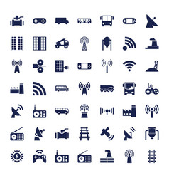 49 station icons vector