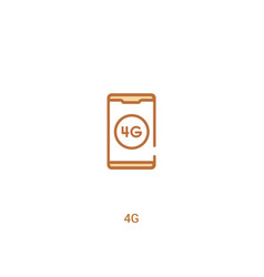 4g concept 2 colored icon simple line element vector