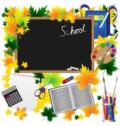 back to school supplies sketchy doodles vector image