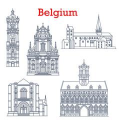 belgium buildings travel architecture churches vector image