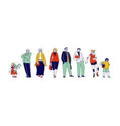 big happy family male female young and senior vector image