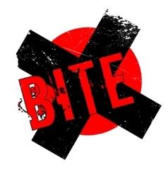 Bite rubber stamp vector