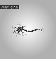 Black and white style icon of neuron vector