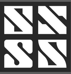 Bold letter s logo monogram typography graphic vector