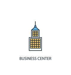 business center concept 2 colored line icon vector image