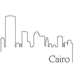 cairo city one line drawing vector image