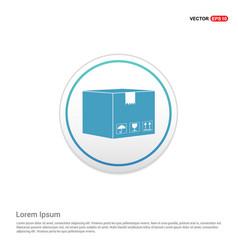 cardboard boxes icon - white circle button vector image