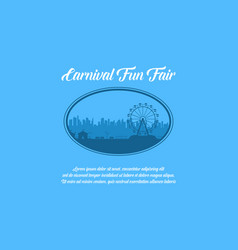 Carnival and amusement park theme background vector