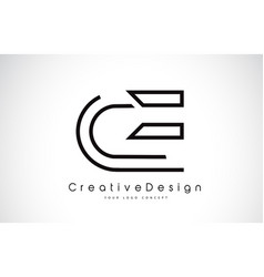 Ce c e letter logo design in black colors vector