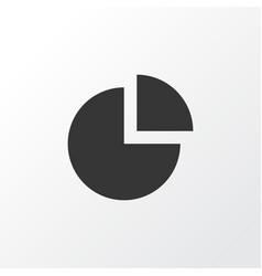 Circle graph icon symbol premium quality isolated vector