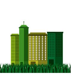 City green ecology cityscape vector