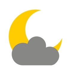 Cloud with moon isolated icon design vector